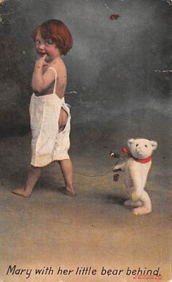 ber007195 - Bear Post Card Old Vintage Antique