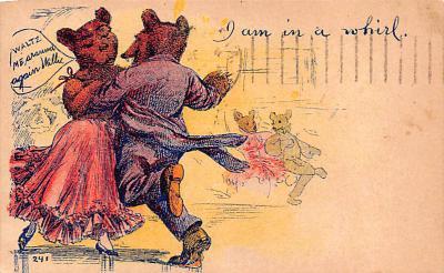ber007199 - Bear Post Card Old Vintage Antique