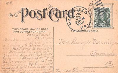 ber007199 - Bear Post Card Old Vintage Antique  back