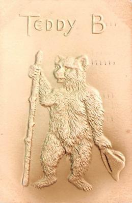ber007203 - Bear Post Card Old Vintage Antique