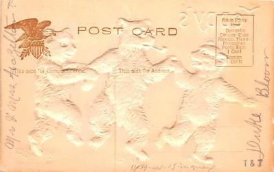ber007205 - Bear Post Card Old Vintage Antique  back