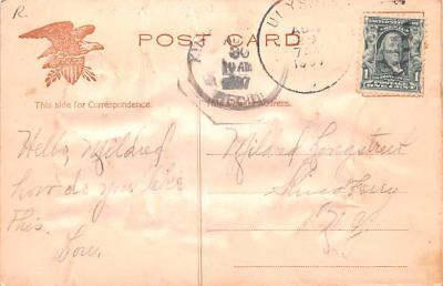 ber007217 - Bear Post Card Old Vintage Antique  back
