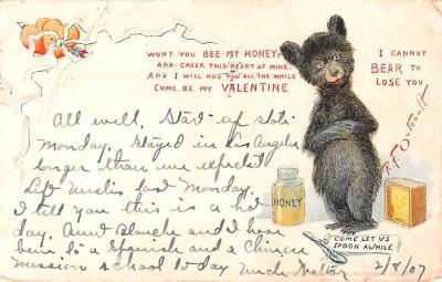 ber007219 - Bear Post Card Old Vintage Antique