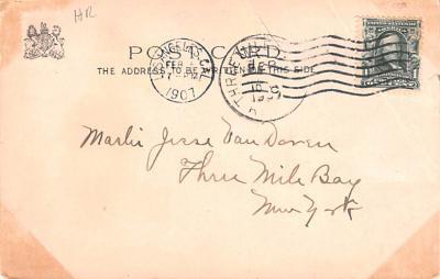 ber007219 - Bear Post Card Old Vintage Antique  back