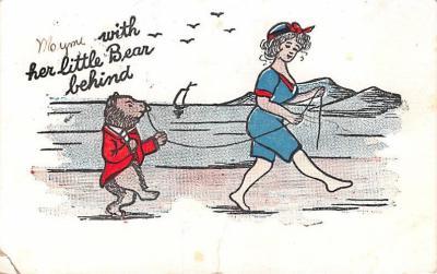 ber007221 - Bear Post Card Old Vintage Antique