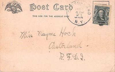 ber007221 - Bear Post Card Old Vintage Antique  back
