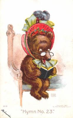 ber007227 - Bear Post Card Old Vintage Antique