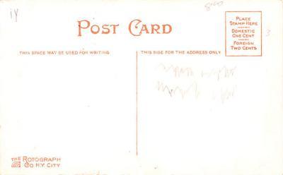 ber007227 - Bear Post Card Old Vintage Antique  back