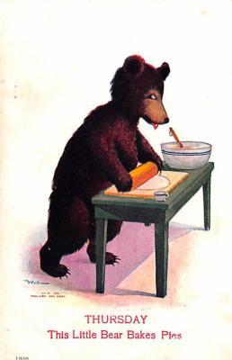 ber007229 - Bear Post Card Old Vintage Antique
