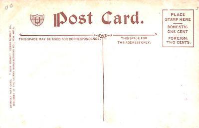 ber007229 - Bear Post Card Old Vintage Antique  back