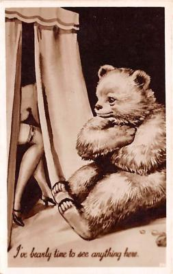 ber007237 - Bear Post Card Old Vintage Antique