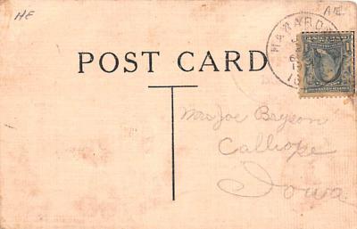 ber007253 - Bear Post Card Old Vintage Antique  back