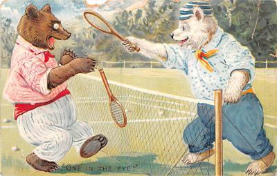 ber007261 - Bear Post Card Old Vintage Antique