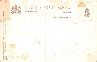 ber007261 - Bear Post Card Old Vintage Antique  back
