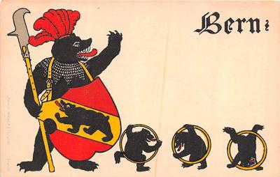 ber007269 - Bear Post Card Old Vintage Antique