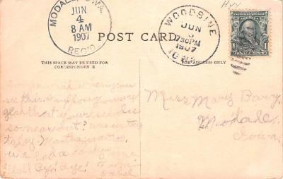 ber007279 - Bear Post Card Old Vintage Antique  back