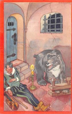 ber007289 - Bear Post Card Old Vintage Antique