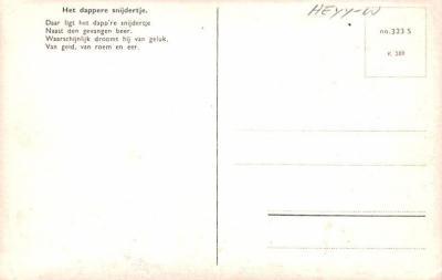 ber007289 - Bear Post Card Old Vintage Antique  back