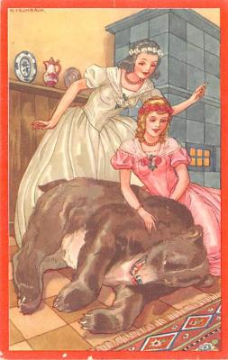 ber007291 - Bear Post Card Old Vintage Antique