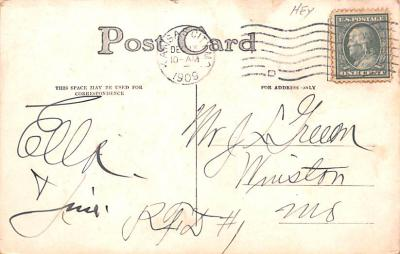 ber007295 - Bear Post Card Old Vintage Antique  back