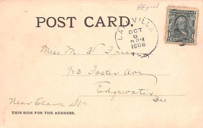 ber007309 - Bear Post Card Old Vintage Antique  back
