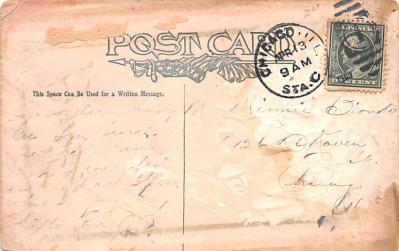 ber007313 - Bear Post Card Old Vintage Antique  back