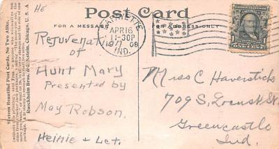 ber007321 - Bear Post Card Old Vintage Antique  back