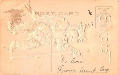 ber007325 - Bear Post Card Old Vintage Antique  back