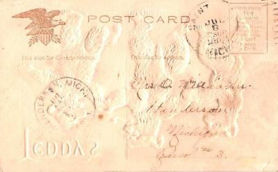 ber007349 - Bear Post Card Old Vintage Antique  back