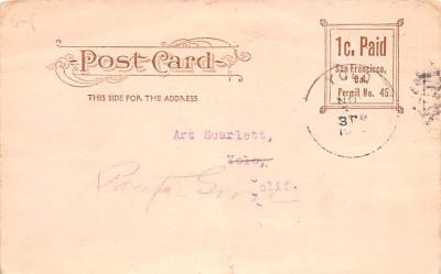ber007357 - Bear Post Card Old Vintage Antique  back