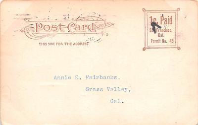 ber007383 - Bear Post Card Old Vintage Antique  back