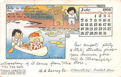 ber007385 - Bear Post Card Old Vintage Antique
