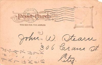 ber007385 - Bear Post Card Old Vintage Antique  back