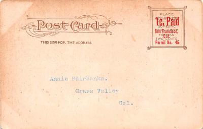 ber007389 - Bear Post Card Old Vintage Antique  back