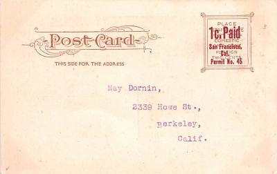 ber007393 - Bear Post Card Old Vintage Antique  back