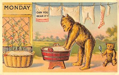 ber007457 - Bear Post Card Old Vintage Antique