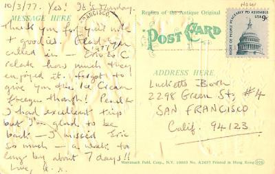 ber007457 - Bear Post Card Old Vintage Antique  back
