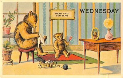 ber007459 - Bear Post Card Old Vintage Antique