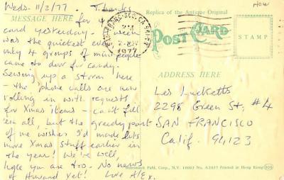 ber007459 - Bear Post Card Old Vintage Antique  back