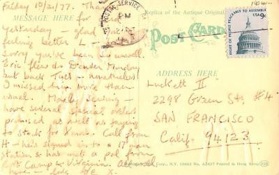 ber007463 - Bear Post Card Old Vintage Antique  back