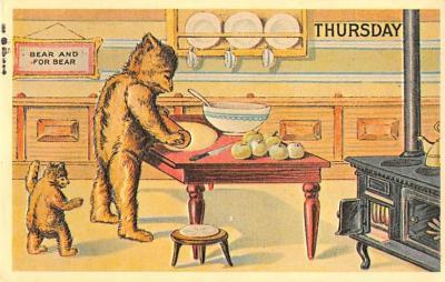 ber007465 - Bear Post Card Old Vintage Antique