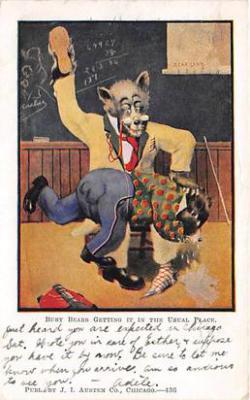 bev006087 - Bears Postcard Old Vintage Antique Post Card