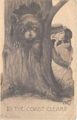 bev006088 - Bears Postcard Old Vintage Antique Post Card