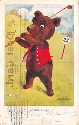 bev006094 - Bears Postcard Old Vintage Antique Post Card