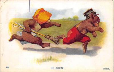 bev006102 - Bears Postcard Old Vintage Antique Post Card