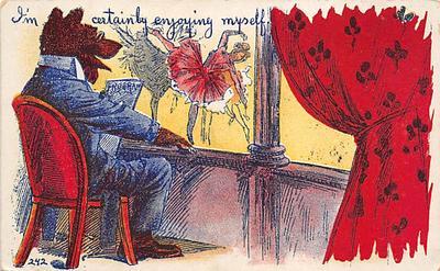 bev006103 - Bears Postcard Old Vintage Antique Post Card