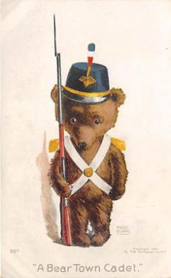 bev006108 - Bears Postcard Old Vintage Antique Post Card
