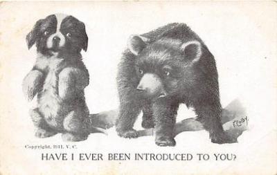 bev006117 - Bears Postcard Old Vintage Antique Post Card