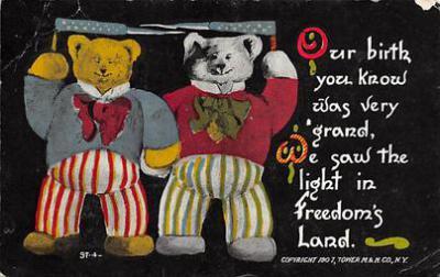 bev006122 - Bears Postcard Old Vintage Antique Post Card