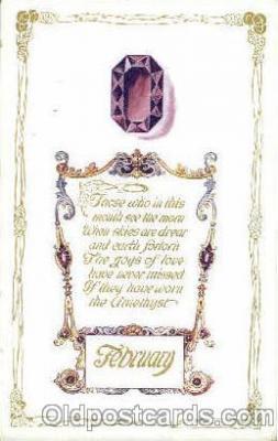 bir001011 - February Birth Stone Postcard Post Card